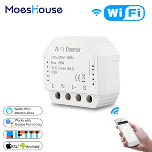 DIY Smart WiFi Light LED Dimmer Switch Smart Life/Tuya APP Remote Control 1/2 Way Switch,Works
