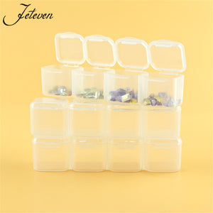 28 Slots Diamond Painting kit Adjustable Plastic Storage Box Nail Art Rhinestone Tool Bead Storage