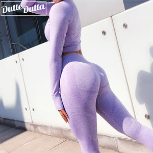 New Seamles Gym Clothing Women Gym Yoga Set Fitness Workout Sets Yoga Outfits For Women Athletic Legging Women's Sportswear suit
