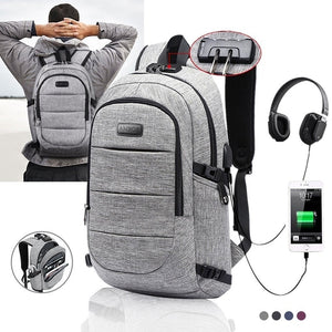 2019 New Fashion Male Casual Oxford Backpack Waterproof Laptop Business Backpacks Men Women Travel USB Charging Anti theft Bag