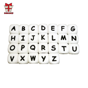 BOBO.BOX 10Pcs Silicone English Alphabet Beads Letter BPA Free Material For DIY Baby Teething