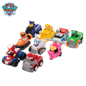 9 Pcs/Set Paw Patrol Dogs Rescue Set Toys Puppy Patrol Cars Patrulla Canina Ryder Anime Action Figures Model Kids Birthday Gifts
