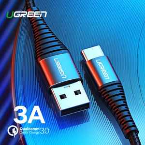 Ugreen USB Type C Cable USB C Fast Charging Data Cable for Samsung Galaxy S9 S8 Plus Mobile Phone