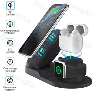 3 in 1 Fast Wireless Charger Dock Station Fast Charging For iPhone 11 11 Pro XR XS Max 8 for Apple
