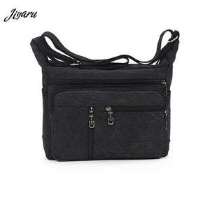 HOT Men Canvas Crossbody Bags Single Shoulder Bags Travel Casual Handbags messenger bags Solid Zipper Schoolbags for Teenagers
