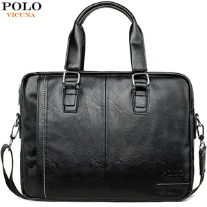VICUNA POLO New Arrival High Quality Leather Man Messenger Bag Bag Set Brand Men's Briefcases