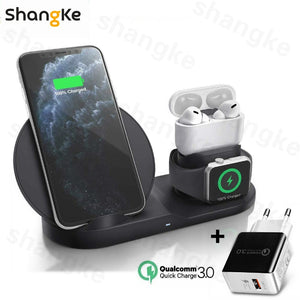 Wireless Charger Stand for iPhone AirPods Apple Watch, Charge Dock Station Charger for Apple Watch