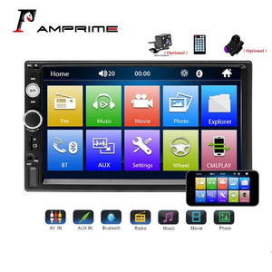 "AMPrime Universal 2 din Car Multimedia Player Autoradio 2din Stereo 7"" Touch Screen Video MP5 Player Auto Radio Backup Camera"