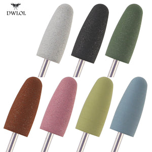 1pcs Nail Drill Bits Silicone Grinder for Nail Polish Rotary Burr Cuticle Cutter for Manicure