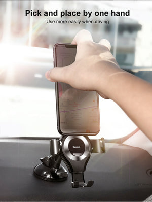 Baseus Gravity Car Phone Holder For iPhone 11 Pro Max Samsung Suction Cup Car Holder For Phone in