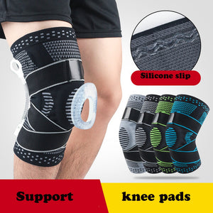 Knee Brace Compression Sleeve Non-Slip Running Hiking Soccer Basketball Meniscus Tear Arthritis Single Wrap Kneepads Knee Pads