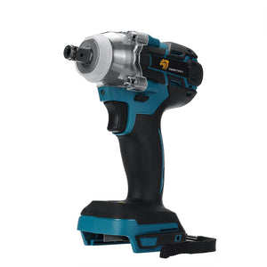 18V Electric Rechargeable Brushless Impact Wrench Cordless 1/2 Socket Wrench Power Tool For Makita
