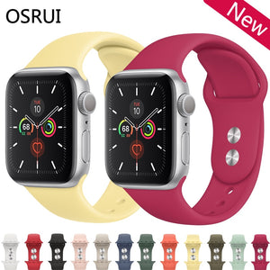 Strap watch band 4 5 3 44mm 40mm correa iwatch band 42mm 38mm Sport silicone bracelet belt apple watch 4 3 accessories