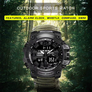 Sport Watch Men Relogio Digital Military LED Compass Waterproof Shock Sports Watches Electronic