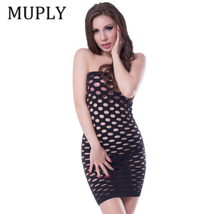 Elasticity Cotton Lenceria Sexy Lingerie Hot Mesh Baby Doll Dress Erotic Lingerie For Women Sex
