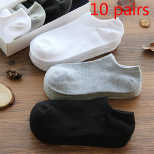 10 pairs/lot Men Socks Cotton Large size38-44High Quality Casual Breathable Boat Socks Short Men