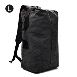 Large Man Travel Bag Mountaineering Backpack Male Luggage Canvas Bucket Shoulder Military Army