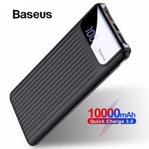 Baseus 10000mAh Quick Charge 3.0 USB Power Bank For iPhone X 8 7 6 Samsung S7 Edg Xiaomi Powerbank