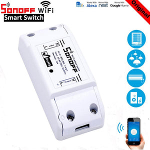 Sonoff ITEAD Basic Wifi Timer Smart Switch Support eWelink APP Wireless Home automation Compatible with Google Home Alexa amazon