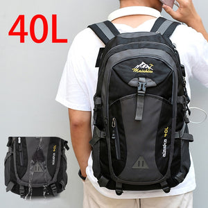 40L Waterproof USB charging Climbing Unisex male travel men Backpack men Outdoor Sports Camping