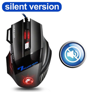 Ergonomic Wired Gaming Mouse 7 Button LED 5500 DPI USB Computer Mouse Gamer Mice X7 Silent Mause