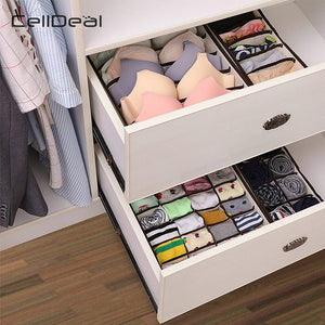 CellDeal Multi-size Foldable Storage Boxes Underwear Closet Drawer Divider Lidded Closet Organizer