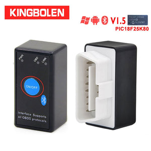 ELM327 V1.5 PIC18F25K80 Chip OBD2 Code Reader Bluetooth J1850 Power Switch on/off 12V OBDII ELM