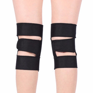 1 Pair Tourmaline Self-heating Knee Protector Magnetic Therapy Knee Protective Belt Arthritis