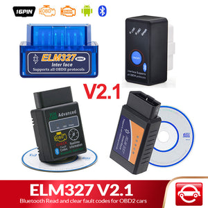 Bluetooth V2.1 for Android Torque OBD 2 Interface OBD2 Scanner Super MINI ELM 327 Support OBDII
