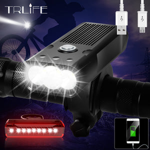 20000Lums Bicycle Light L2/T6 USB Rechargeable 5200mAh Bike Light IPX5 Waterproof LED Headlight