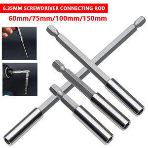 "Extensions Quick Change Extension Bit Set 1/4"" Hex Rod Shank Long Handle Screwdriver Tip Holder Hand Tool"