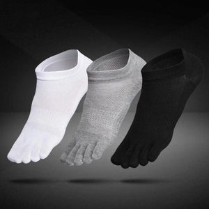 1 pair Breathable Unisex Men Women Socks Sports Ideal For Five 5 Finger Toe Shoes Sale solid Mesh