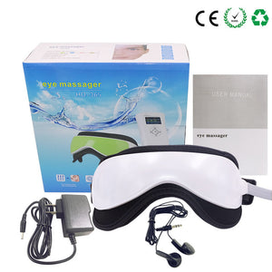 Beurha Eye Massager Music Magnetic Air Pressure Infrared Heating Massage Glasses Electric DC Eyes Care Device