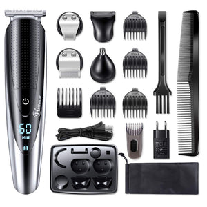 Professional waterproof hair trimmer beard trimer body face hair clipper electric hair cutting