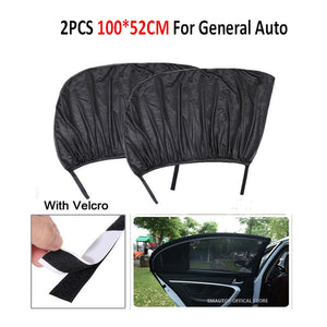 2Pcs Car Window Sun Shade Rear Side Windows Kids Baby Uv Protected Cars Sun Shades Car Rear Side