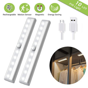 PIR Under Cabinet Light USB Rechargeable Motion Sensor Closet Lights Wireless Magnetic Stick-on