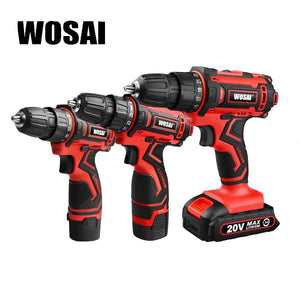 WOSAI 12V 16V 20V Cordless Drill Electric Screwdriver Mini Wireless Power Driver DC Lithium-Ion