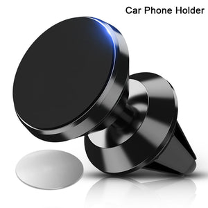 360 Rotable Air Vent Magnetic Holder for Mobile Phone in Car GPS Navigation Universal Bracket