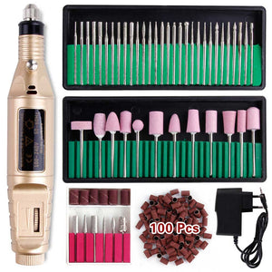 Professional Manicure Machine Electric Nail Drill Bits Set Mill Cutter Nail Art Sanding File Gel