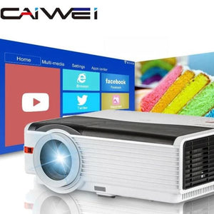 Caiwei A9/A9AB Smart Android WiFi LCD LED 1080p Projector Home Cinema 8000 Lumens Full HD Video