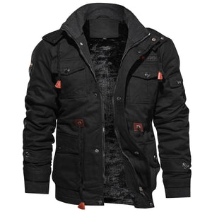 Jacket Men Thick Warm Military Bomber Tactical Jackets Mens Outwear Fleece Breathable Hooded