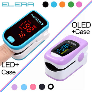 Finger Pulse Oximeter With Case Fingertip Oximetro de pulso de dedo LED Pulse Oximeters Saturator