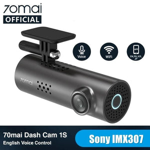 70mai Car DVR 1S APP & English Voice Control 70mai 1S 1080P HD Night Vision 70 MAI 1S Car Camera