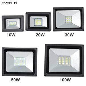 220V LED FloodLight 10W 30W 50W 100W Reflector LED Flood Light Waterproof IP65 Spotlight Wall