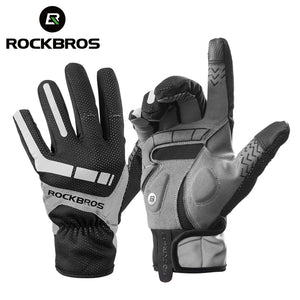 ROCKBROS Ski Gloves Touch Screen Windproof Thermal Winter Snow Gloves Men Women Sport Snowboard