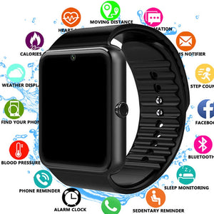 Smart Watch GT08 Clock Sync Notifier Support Sim TF Card Bluetooth Connectivity Android Phone