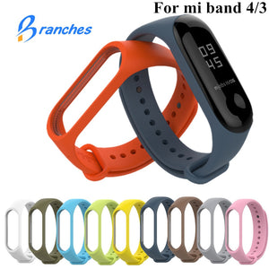 Bracelet for Xiaomi Mi Band 3 4 Sport Strap watch Silicone wrist strap For xiaomi mi band 3 4