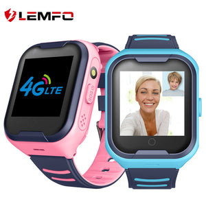 LEMFO G4H 4G Kids Smart Watch GPS Wifi Ip67 Waterproof 650Mah Big Battery 1.4 Inch Display Camera