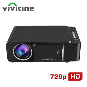 VIVICINE 1280x720p Portable HD Projector,Option Android 7.1 HDMI USB 1080p Home Theater Proyector