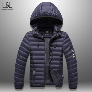Men's Winter Jacket With Headphones Casual Thick Hooded Coat Warm Men Winter Coat Windproof Hat